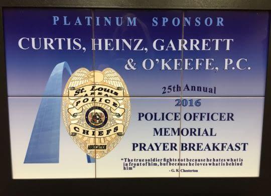 CHGO police memorial breakfast advertisement